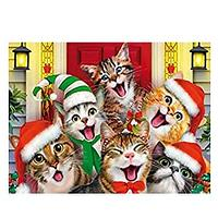 Happy Holiday Cats Diamond Art Kit