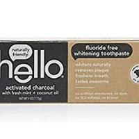 Hello Oral Care Activated Charcoal Teeth Whitening Fluoride Free Toothpaste