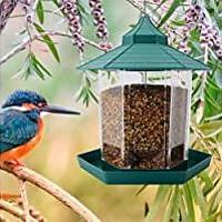 Hexagon Shaped With Roof Hanging Bird Feeder (Bestseller)