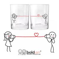 "His & Hers ""I Love You"" Drinking Glasses"