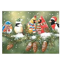Holiday Birds Diamond Art Kit