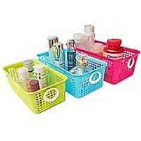 Honla Perforated Plastic Storage Baskets/Bins