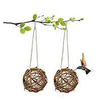Hummingbird House With Cotton for Nesting, 2 Pack (Bestseller)
