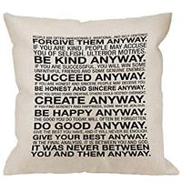 Inspirational Quote Pillow Case