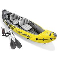 Intex Explorer K2 Kayak, 2-Person Inflatable Kayak Set With Aluminum Oars and High Output Air Pump