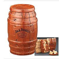 Jack Daniel's Real Wooden Barrel Puzzle