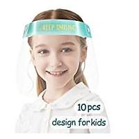 Kids' Anti-fog Safety Face Shield Transparent Breathable Full Face Protective Visor With Adjustable Elastic Band, 10 Pack