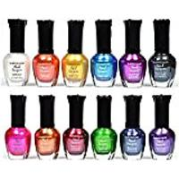 Kleancolor Nail Polish - Awesome Metallics, 12 Bottles