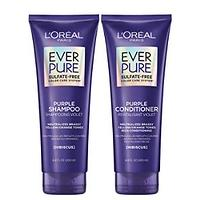 L'Oreal Paris EverPure Brass Toning Purple Sulfate Free Shampoo and Conditioner