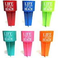 Life Is Better at the Beach Spiker Beverage Holder