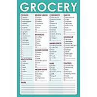 Magnetic Grocery List Notepad for Shopping