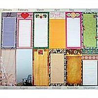 Magnetic Memo Note Pads, Seasonal Monthly Themes