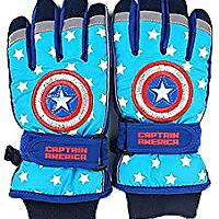 Marvel Captain America Boy's Waterproof Winter Ski Gloves
