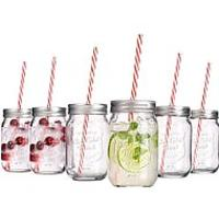 Mason Jar Cups With Straws