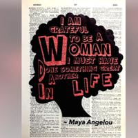 Maya Angelou Inspirational Quote Art Print