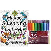 Maybe Swearing Will Help Adult Coloring Book