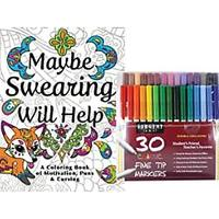 Maybe Swearing Will Help Coloring Book Sete