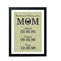 Mom's Blessings Personalized Print