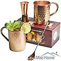 Moscow Mule Copper Mugs Gift Set