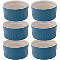 Mrs. Anderson's Baking Ceramic 6-Ounce Souffle Dish, Bayberry, Set of 6