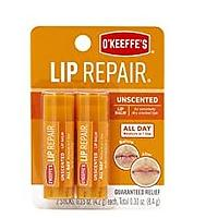 O'Keeffe's Unscented Lip Repair Lip Balm (2 Pack)