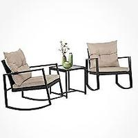 Outdoor Rocking Chair Bistro Set