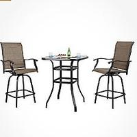 PHI VILLA Patio Swivel Bar Set