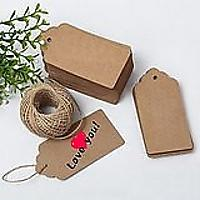 Paper Gift Tags With Jute String