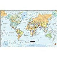 Peel & Stick World Dry-Erase Map With Marker