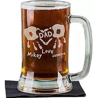 Personalized Hand Print Glass