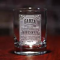 Personalized Whiskey Label Glasses