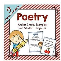 Poetry Unit Study: Anchor Charts, Examples and Templates for 9 Forms of Poetry (PDF Download)
