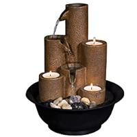 Pouring Tiers Tabletop Fountain With 3 Candles