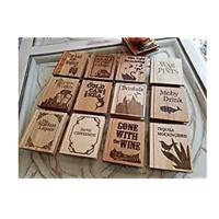 Pun Title Book-Shaped Coasters