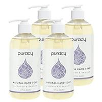 Puracy Natural Gel Hand Wash, Lavender & Vanilla (Pack of 4)