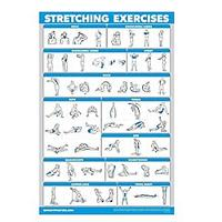 QuickFit Stretching Workout Exercise Poster