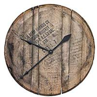 Reclaimed Bourbon Whiskey Barrel Head Clock