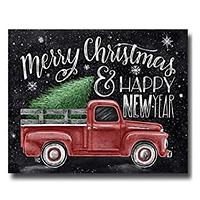 Red Pickup Truck With Tree Holiday Kit