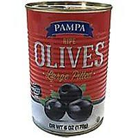 Ripe Large Pitted Black Olives