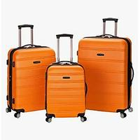 Rockland Melbourne Hardside Expandable Spinner Wheel Luggage, Orange, 3-Piece Set (Bestseller)