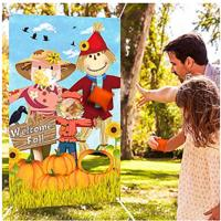 Scarecrow Bean Bag Toss Game