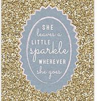 She Leaves A Little Sparkle Wherever She Goes Notebook