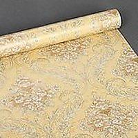 SimpleLife4U Yellow Damask Self-Adhesive Moisture Proof PVC Contact Paper