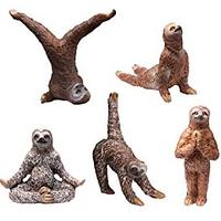 Sloth Yoga Figurines