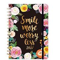 Smile More Worry Less 2021 Day Planner