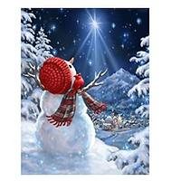 Snowman & Starry Sky Diamond Art Kit