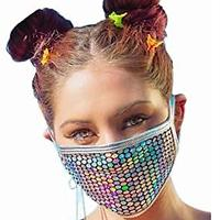 Sparkly Mesh Face Mask