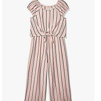 Speechless Girls' Tie Front Top and Pant Set