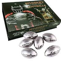 Stainless Steel Football Whiskey Stones