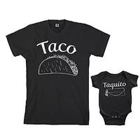 Taco & Taquito Infant Bodysuit & Men's T-Shirt Matching Set